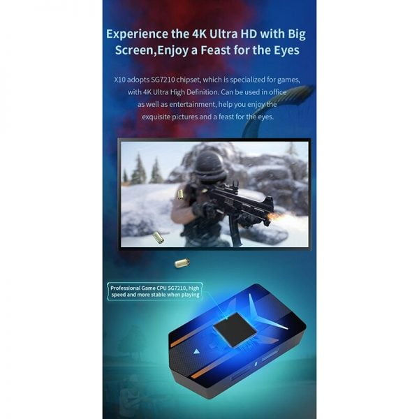 MiraScreen X10 Mobile Game Expansion with the Same Screen Bluetooth 4.04K Ultra HD Plug and Play Chicken Artifact PUBG Auxiliary
