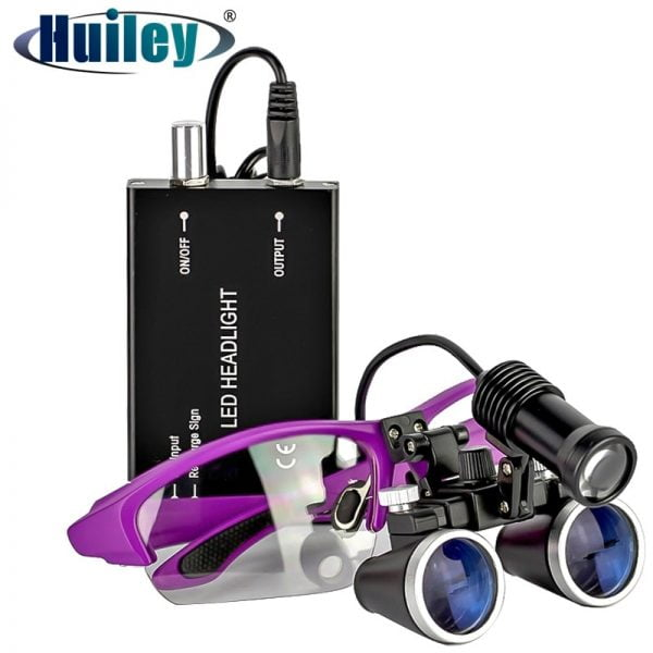 2.5X/3.5X 420 mm Dental Loupe Magnifier Binocular Magnifier Surgery Surgical Operation Loupe with Spotlight Head Light