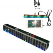 200 * 26 * 25mm USB 5V Or 12V Stereo VU Meter Indicator Music Spectrum Analyzer 20 Segment LED Level Display