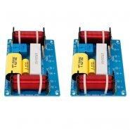 2Pcs Speaker 3 Way Audio Frequency Divider Treble Midrange Bass Crossover Speakers Filter For 8Inch Speaker DIY
