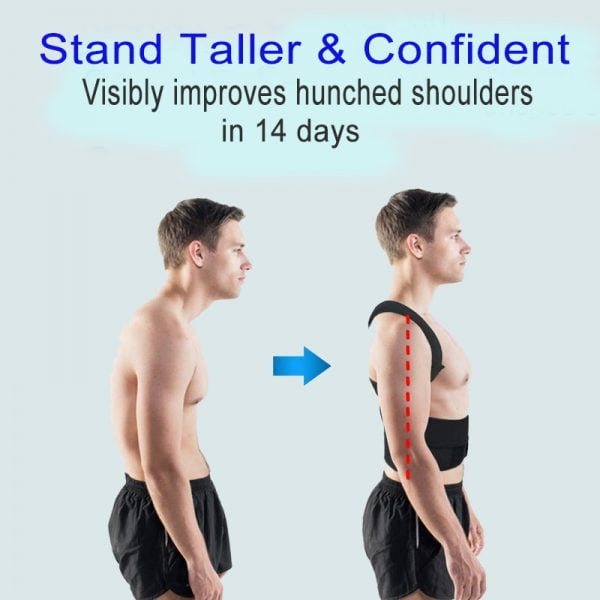 Adjustable Posture Corrector Back Support Shoulder Back Brace Posture Correctionr Spine Corrector Health Postural Fixer Tape