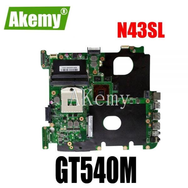 Akemy N43SL motherboard For Asus N43S N43SL N43SN N43SM laptop motherboard tested 100% work original mainboard