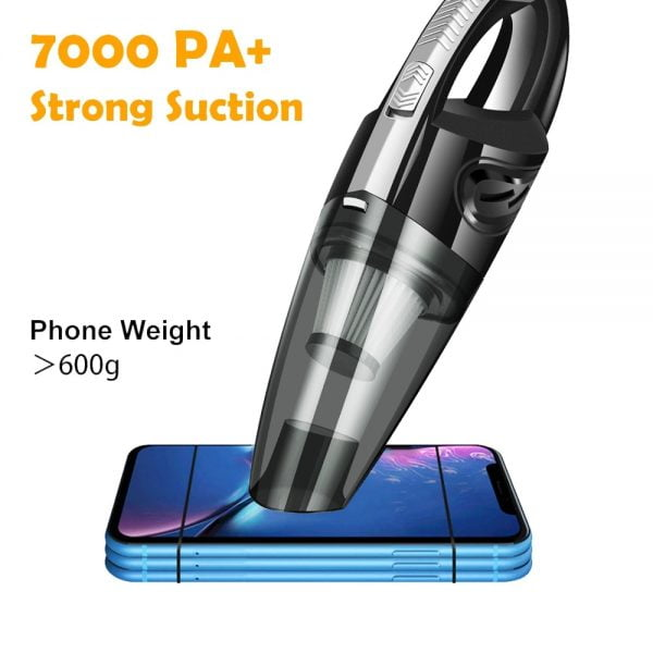 Car Wireless Vacuum Cleaner 7000PA Powerful Cyclone Suction Home Portable Handheld Vacuum Cleaning Mini Cordless