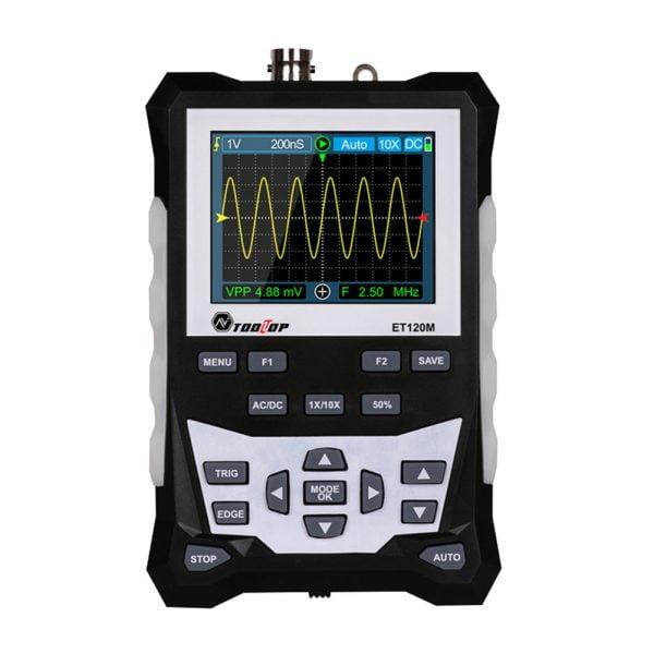 ET120M 120 MHz Bandwidth 500 MS/s Sampling Rate Colorful Analog Waveform Oscilloscope Handheld Digital Oscilloscope