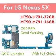 خرید برد گوشی ال جی نکسوس Factory Unlocked For LG Nexus 5X Motherboard For LG H790 H791 16gb 32gb Logic Board Original Android OS
