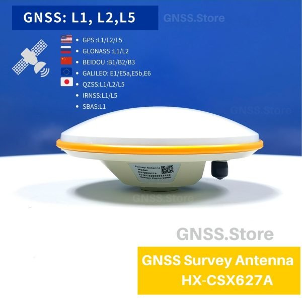 GPSAntenna RTK High Precision GNSS Antenna Measuring HX-CSX627A Support GPS L1 L2 L5 BDS GLONASS GALILEO QZSS For BD982 BD970