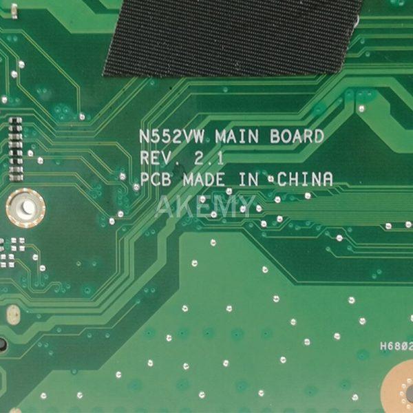 خرید مادربرد لپ تاپ از علی اکسپرس N552VW Laptop motherboard For Asus VivoBook Pro N552VW N552VX original mainboard HM170 I7-6700HQ