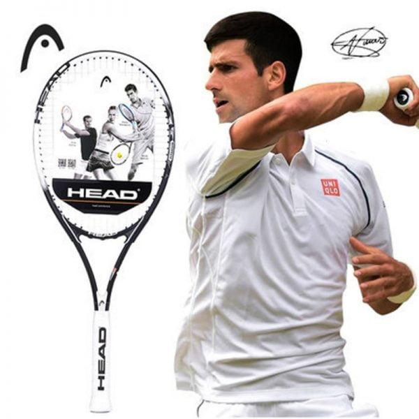 Original Head Tennis Racket Black Professional Tennis Racquet Carbon Tenis Padel With Bag Overgrip Dampener Raquete De Tenis 414