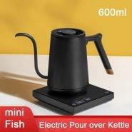 خرید کتری برقی از علی اکسپرس TIMEMORE Smart Mini Fish Electric Pour Over Kettle 600ml 220V Gooseneck Variable Kettle Temperature