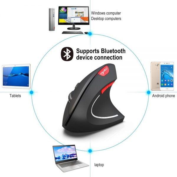 خرید موس گیمینگ از علی اکسپرس Vertical Ergonomic Gaming Mouse Wireless Bluetooth Gamer KIT USB Rechargeable 2.4G Optical Mause For PC