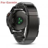 خرید بند ساعت گارمین از علی اکسپرس 26 22 20mm Watchband For Garmin Fenix 6 6X Pro 5 5X Plus 3HR STAINLESS STEEL Band Fenix6 Fenix5 Watch Quick Release Wrist Strap