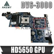 Akemy 615279-001 630279-001 603642-001 For HP Pavilion DV6 DV6-3000 Laptop Motherboard DA0LX6MB6H1 HD5650 GPU Free CPU