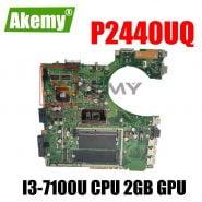خرید مادربرد لپ تاپ از علی اکسپرس Akemy P2440UQ Laptop motherboard For Asus P2440UQ P2440UV P2440U P2440 original mainboard W/ I3-7100U CPU 2GB GPU