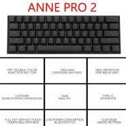خرید کیبورد مکانیکی از علی اکسپرس Anne Pro 2 Pro2 NKRO Bluetooth 5.0 Type-C RGB 60% Mini Mechanical Gaming Keyboard Cherry Gateron Kailh Red Brown