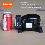 BD15H PURSWAVE DC MINI Compressor 12V24V refrigerator compressor R134a for portable refrigerator car freezer vehicle fridge