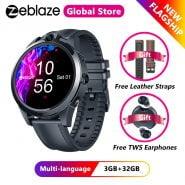 [Free Leather Straps]Zeblaze THOR 5 PRO Ceramic Bezel 3GB 32GB Smartwatch Dual Camera Face Unlock Multi-language Smart Watch Men