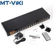 Mt-VIKI 16 Port Smart KVM Switch Auto USB HDMI-compatible Switch Keyboard Mouse Switcher HD1080P IR Remote control MT-2116HL