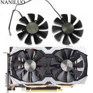 خرید فن کارت گرافیک از علی اکسپرس 85mm GA91S2H GFY09010E12SPA 4Pin VGA Cooler Fan Replace For ZOTAC AMP GTX1070 GTX 1070 Mini