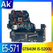 Akemy A5WAH LA-B991P NBMLC11007 NB.MLC11.007 laptop motherboard for Acer aspire E5-571 GeForce GT840M I5-5200U Main board
