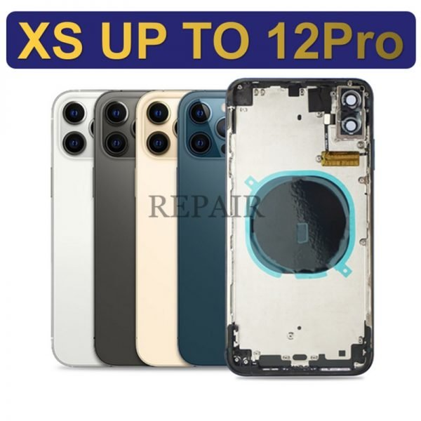 Back Cover Housing For Convert iPhone X XS XsMax into iPhone 12 Pro Max with Flashlight Cable Make iPhone XS Like iPhone 12 Pro