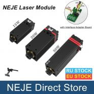 NEJE 15W/20W/30W CNC Laser Module 450nm/405nm TTL Blue Light with Interface Adapter Board for Laser Engraving Cutting Machine