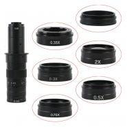 0.3X 0.35X 0.5X 0.75X 1X 2.0X Barlow Auxiliary Objective Glass Lens M42 For 10A C-MOUNT Lens HDMI VGA USB Microscope Camera