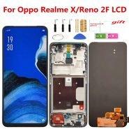 تاچ و ال سی دی ریلمی ایکس 100% Tested Display With frame For Oppo Reno 2F LCD Touch Screen Digitizer Assembly For OPPO Realme X LCD Replacement