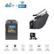 4G Car Camera With Dual Cameras Car APP Live Video GPS Tracking Wifi Remote Monitoring Dash Cam 1.5inch DVR Recorder Free Track