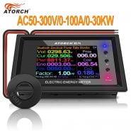 AT24C 100A 2.4″ Digital Voltmeter Meters indicator Power Energy Ammeter current Amps Volt wattmeter tester detector