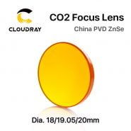 Cloudray China CO2 ZnSe Focus Lens Dia.18 19.05 20 mm FL38.1 50.8 63.5 101.6 127mm 1.5 – 4″ for Laser Engraving Cutting Machine