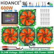 DL24M 4-Wire 150W/300W/450W/600W 18650 Car Lead-acid 12V Battery Capacity Tester Electronic Load Power Tester Discharge Meter