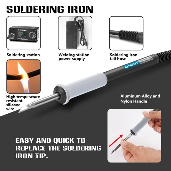 Mini T12 Soldering Station Portable Digital OLED Adjust Temperature Electronic Welding Iron Professional Electronic Welding Tool