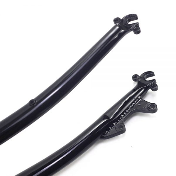 SILVEROCK Chromoly Steel Road Bike 700C Rigid Fork 1 inch 25.4mm 1″ Disc V Brake Threadless Chrome Road Bicycle Forks Classic