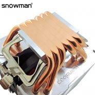 SNOWMAN 6 Heat Pipes CPU Cooler 4 Pin PWM RGB PC Quiet Intel LGA 2011 775 1200 1150 1151 1155 X79X99 AMD AM3 AM4 CPU Cooling Fan