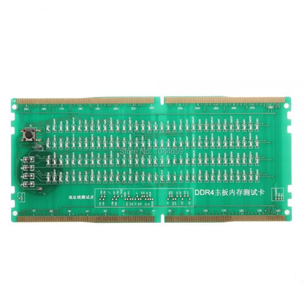 Two in One Desktop Motherboard Test Card DDR2/DDR3/DDR4 With LED Light Tester for Intel and AMD Motherboard Repair Tester