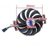 95MM CF1010U12S Cooling Fan For ASUS TUF RTX3090 3080 3070 3060 STRIX-RTX3060TI 3070TI 3080TI RX6800 RX6700 GPU FAN 7PIN DC 12V