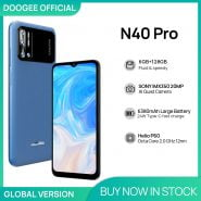 خرید گوشی دوجی ان 40 پرو DOOGEE N40 Pro Smartphone 6.5 inch 20MP Quad Camera Helio P60 6GB 128GB Cellphone 6380mAh Battery