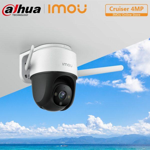 خرید دوربین از علی اکسپرس Dahua Imou Cruiser 4MP PTZ Outdoor IP Camera Full-Color Night Vision Built-in Wifi AI Human Detection Weatherproof Two-Way Talk