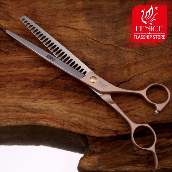 Fenice Professional JP440c 7.0 inch 7.5 inch High-end Pet dog Grooming Scissors thinning shears Thinning rate about 75%
