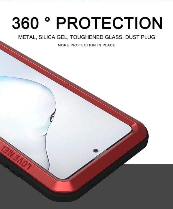 خرید قاب ضدآب گوشی سامسونگ For Samsung Galaxy Note 10 Lite Case Love Mei Powerful Metal Armor Shock Dirt Proof Water Resistant Cover Case For Note 10 Lite