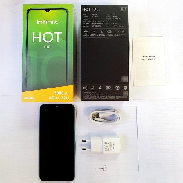 """خرید گوشی اینفینیکس Global Version Infinix Hot 10 Lite 2GB 32GB Smart Phone 6.6""""HD Screen Mobile Phone 5000mAh Battery"""
