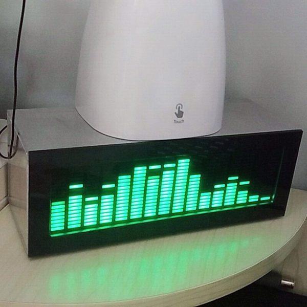 HIFI DIY level LED Music Spectrum Analyzer Audio Level VU Meter MP3 PC Amplifier Audio Indicator Speed Adjustable AGC