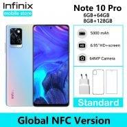 """خرید گوشی اینفینیکس Infinix Note 10 Pro NFC Support 6.95"""" Display Smartphone Helio G95 64MP Camera 33W Super"""