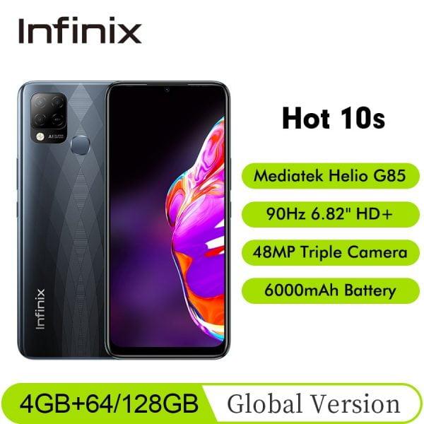 "خرید و قیمت گوشی اینفینیکس New Global Version Infinix HOT 10S NFC 4GB 64/128GB Smartphone 6.82"" HD Display 5000mAh Battery Helio"