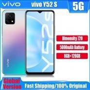 خرید گوشی ویوو از علی اکسپرس New Original Vivo Y52s 5G Smartphone 6.58inch Octa Core Dimensity 720 90Hz 48MP Rear Camera 18W Flash Charge 5000mAh