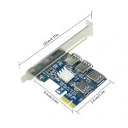 New PCIE PCI-E PCI Express Riser Card 1x to 16x 1 to 4 USB 3.0 Slot Multiplier Adapter for for WinXP/Win7 8 10