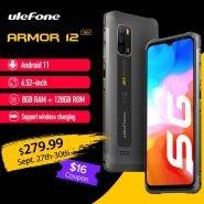 """خرید گوشی یولفون آرمور 12 از چین Ulefone Armor 12 5G Rugged Phone Android 11 8GB 128GB Global Version 6.52"""" Waterproof Smartphone 5180 mAh"""